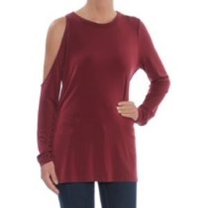 NWT RACHEL ROY Cold Shoulder Long Sleeve Crew Neck